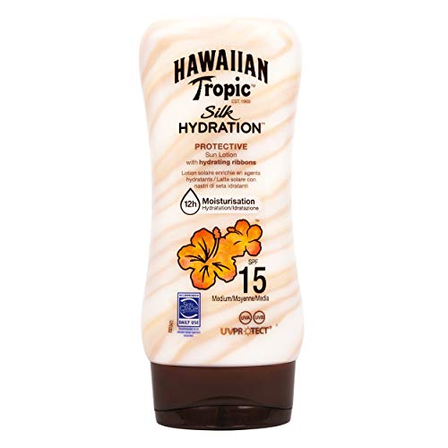 Spf 12 Gesichts-lotion (Hawaiian Tropic Silk Hydration Protective Sun Lotion Sonnencreme LSF 15, 180 ml, 1 St)
