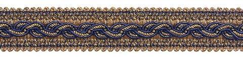 8,2m Value Pack–Bleu Marine Taupe Baroque Collection Gimp Tresse 1–1/10,2cm