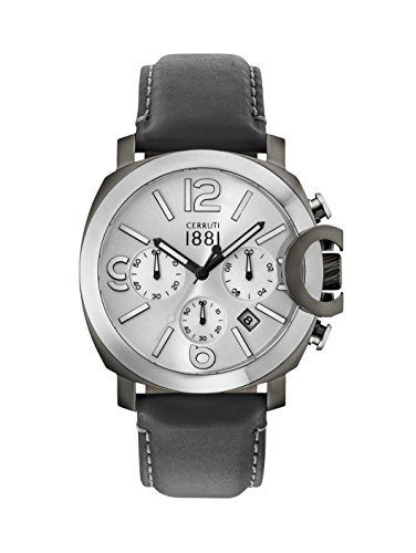 Cerruti 1881 Mens Chronograph Quartz Watch with Leather Strap CRA181SUS04BK