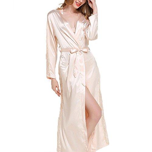 damen-bademantel-canvalite-sexy-damen-einfarbig-kimono-negligee-morgenmantel-mit-gurtel-glatte-satin