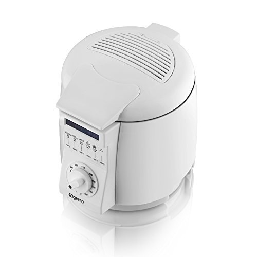 41a4a95XifL. SS500  - Elgento Compact Deep Fat Fryer with Cool Touch Exterior, Adjustable Thermostat, Internal Filter, Plastic, 900 W, 1 Litre, White