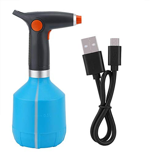 Qinlorgo Elektrische sprühflasche, USB wiederaufladbare elektrische sprühflasche bewässerung Werkzeug für Blume Pflanze(Hellblau)