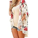 Potatogirl Frauen Mode - Sommer Kimono Strickjacke Plus Size schal Blouses