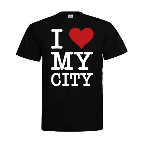 MDMA T-Shirt I Love My City mdma-t00091-10 Textil black / Motiv weiss Gr. (Online Design Kostüm Studium)