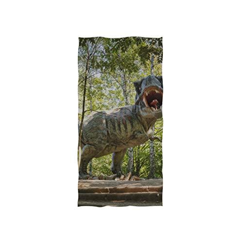 Magische Tyrannosaurus Rex Soft Spa Strand Badetuch Fingerspitze Handtuch Waschlappen Für Baby Erwachsene Bad Strand Dusche Wrap Hotel Travel Gym Sport 30x15 Zoll -