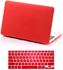 CABLESETC™ Matte SeeThru Hard Shell Case Cover For (Apple Macbook Pro 15.4 Retina A1398, Red)