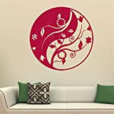 kyprx Haute qualité Maison décalcomanie Yoga Mural Art Stickers muraux Mandala Indien Rond Parttern Symbole Salle décoration décalcomanie Autres Couleurs 57cmX57cm