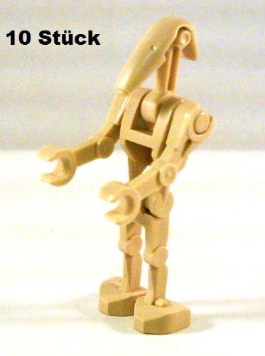LEGO Star Wars Figuren: 10 Stück Standard Kampf Droide / Battle Droid, - Wars Star Lego Armee Clone Troopers
