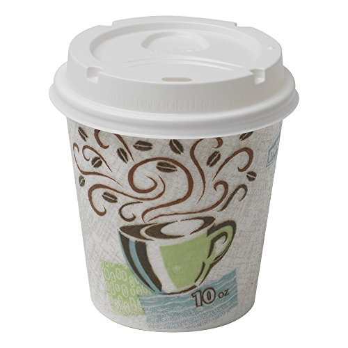 PerfecTouch 5310combo600Grab N Go Tasse und Deckel Combopack, Coffee Dreams Design, 10oz Kapazität (Fall von 300Tassen und 300Deckel) - Georgia Pacific Dixie Food-service