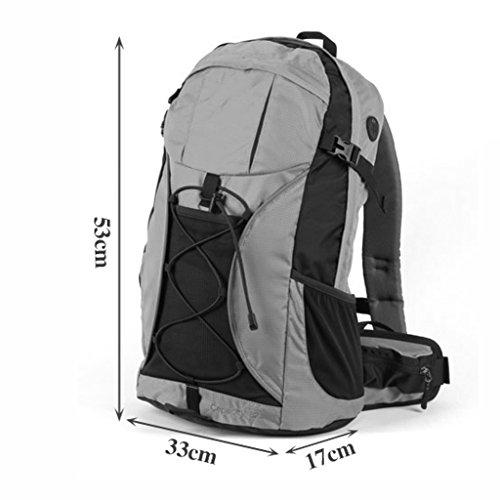 AMOS Outdoor wasserdichte Männer und Frauen Bergsteigen Tasche 32L Reiten Wanderrucksack Schwarz