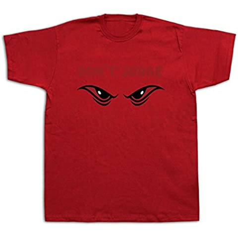 Nuovo Mens cotone maglietta di stampa Non giudicare occhio di gatto male fortunato disegno divertente