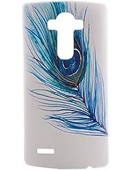 BONROY® Coque pour LG G4,Housse en cuir pour LG G4,imprimé étui en cuir PU Cuir Flip Magnétique Portefeuille Etui Housse de Protection BONROY® Coque Étui Case Cover avec Stand Support Avec des Cartes de Crédit Slot et Fonction Support pour LG G4