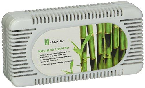 Sagano - El Mejor Absorbente de Olores y Purificador de Aire con Carbon Activo - Desodorante para el Frigorífico y el Armario con Eficacia Probada - Ambientador Casa que Absorbe Olores