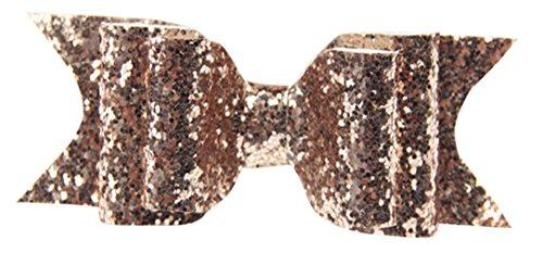 La Vogue Barrette Fille Bébé Nœud Papillon Pailleté Pince à Cheveux Accessoire Champagne