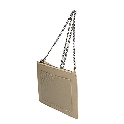 Chicca Borse Borsa a tracolla in pelle 28 x 18.5 x 2 100% Genuine Leather Fango
