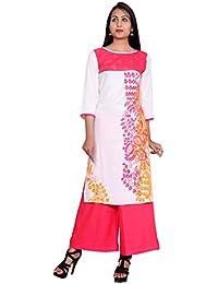 Teej Women's Designer Rayon Kurti,Party Wear Floral Print Kurti Kurta