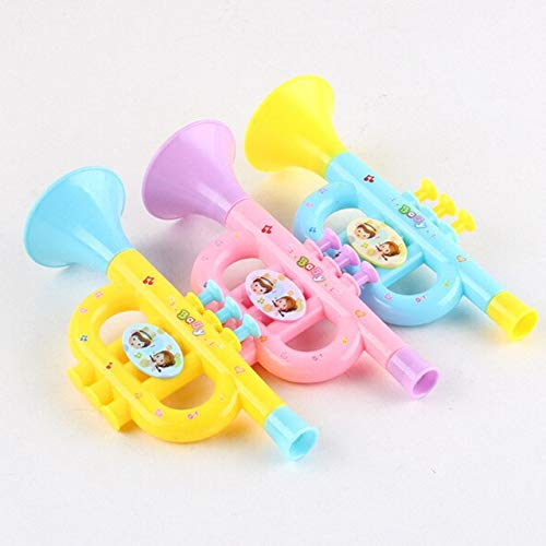 HATCHMATIC Musical Instruments for Kids Trumpet Baby Music Toys Early Education Toy 1 PCS Colorful Baby Music Toys: Random Color