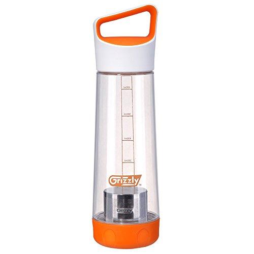 Grizzly Sport Trinkflasche BPA frei Stilvolle Tragbare Umweltfreundlich Wasser Flasche mit Teesieb 700ml,Orange