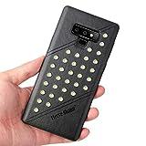 Wawer Samsung Galaxy Note 9 Hülle, Leder Flip Schutzhülle für Samsung Galaxy Note 9 6.4inch (Schwarz)