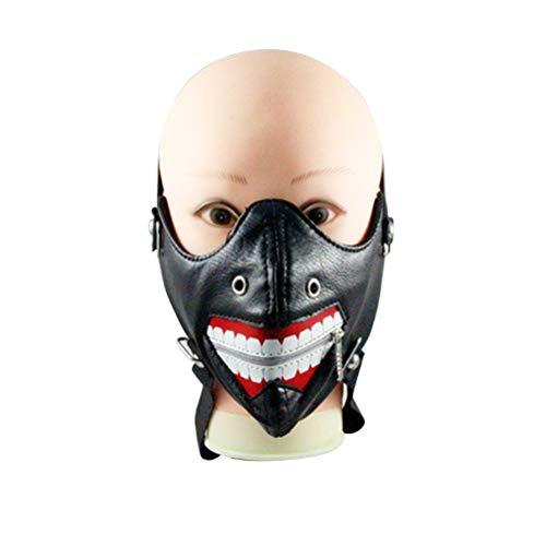 BESTOYARD Halloween Cosplay Muster Zahnmasken Niet Maske Reißverschluss Frauen Männer Masken Für Reiten Strümpfe Masken (Schwarz)