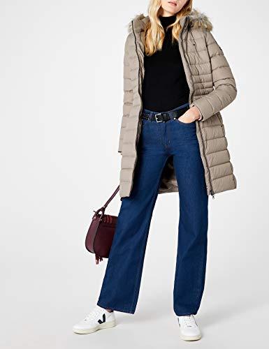Tommy Jeans Hilfiger Denim Damen Mantel THDW Basic Coat 3, Beige (Fungi 004), X-Small - 4