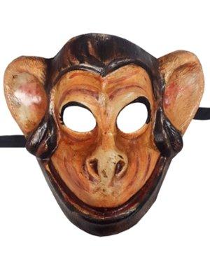 Deluxe Funny Monkey Chimp Full Face venezianische Karnevalsmaske Tiermotiv ideal für Karneval Party