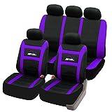 SITU universal Sitzbezüge für Auto Schonbezug Komplettset schwarz/lila SCSC0092