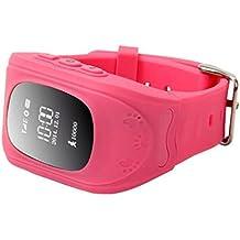 Q50 Smartwatches Reloj Infantil Pulsera Inteligente GPS / LBS Localizador Alarma para Seguridad de Niños - Rosa