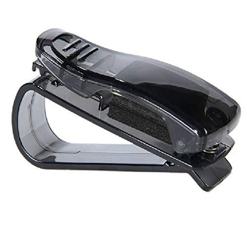 LinHut Multifunktionaler Innenraum Auto Brillenhalter Durable Kunststoff Auto Sonnenblende Brille Sonnenbrillen Ticket Clip Halter Schwarz Auto Zubehör Auto Brille Clip Auto-Universaldekoration