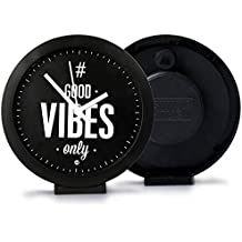 ASWHOLE Ideas Inspirational Good Vibes ONLY Table/Wall Clock for Home Décor/Office