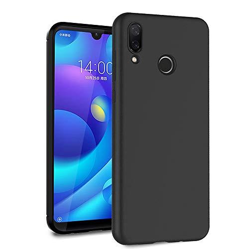 Ferilinso Cover per Xiaomi Mi Play, Custodia in Fibra di Carbonio Slim Thin Hybrid Defender Scratch Resistant Anti Shock Cover Protettiva in Silicone per Cover Xiaomi Mi Play (Negro)