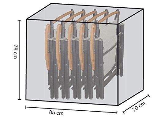 Stuhlhülle Schutzhaube Plane für 4-6 Klappstühle Test