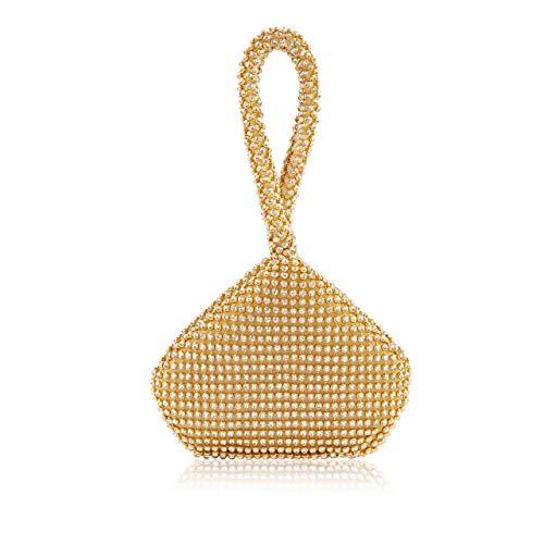 Metme Handtasche für Party Pouch geformt Handgelenk Tasche Abend Clutch Dreieck Design Strass Prom MEHRWEG