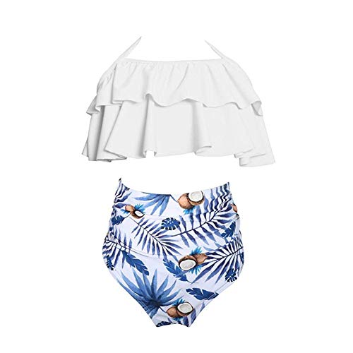 Coogel Summer Family Match Outfits Cute Swimsuit Kids Bikini Set (Daughter 7-8T) (Kid Cute Outfits)