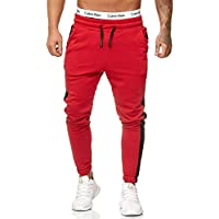 KUULEE Herren Lange Trainingshose Jogginghose Trackpants mit