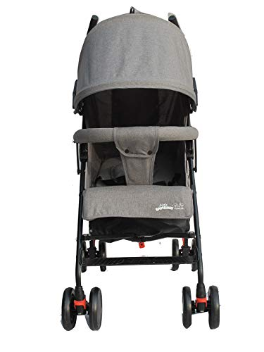 Stroller for Kids Lightweight Buggy Easy Fold Travel Stroller Buggy Foldable for AirplaneTravel (Grey)