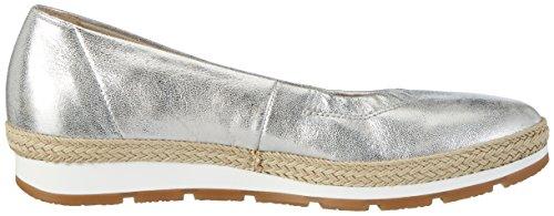 Gabor Damen Comfort Geschlossene Ballerinas Silber (silber (Jute) 61)