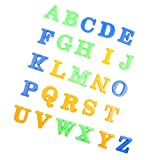 MagiDeal 26 Stücke Kunststoff Alphabet Sandformen Sandkasten Spielset Für Kinder Pädagogisches Spielzeug - Mehrfarbig