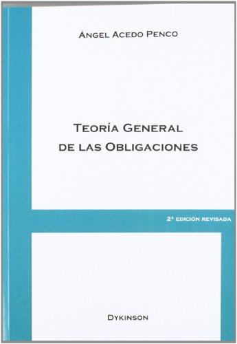 Teoría general de las obligaciones por Ángel Acedo Penco