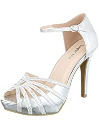 High Heel Sandaletten Damenschuhe Plateau Pfennig-/Stilettoabsatz High Heels Schnalle Ital-Design Sandalen / Sandaletten