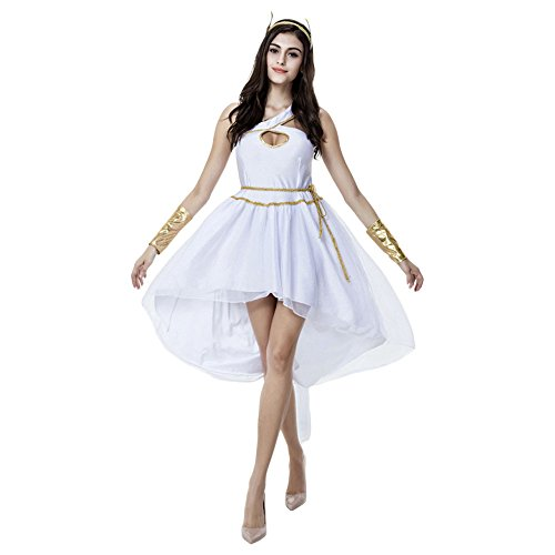 Ägypterin/Arabian/Gladiator Kostüm für Karneval Halloween Fasching Kleid mit Kopfbedeckung und Armband (Gladiator Kostüm Geist)