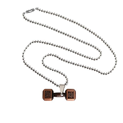 Menjewell Antique Finish & Classic design Brown:Silver Sports & Gym Fitness Body Builders dumbbell Pendant For Men & Boys  available at amazon for Rs.195