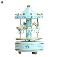 YongLh6C Fashion Wood MerryGoRound Music Box Christmas Birthday Gift Carousel Kids Toys 8