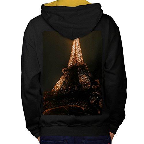 Kostüme Rock Berühmten Star (Eiffel Turm Cool Mode Berühmt Men M Kontrast Kapuzenpullover Zurück |)