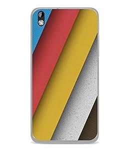 PrintVisa Designer Back Case Cover for HTC Desire 816 :: HTC Desire 816 Dual Sim :: HTC Desire 816G Dual Sim (Broad Stripes In Different Colours)