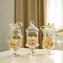 Yinmake Tarros de cristal para dulces, decoración para el hogar, hecho a mano,