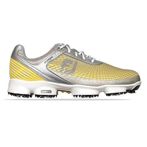 Footjoy , Herren Golfschuhe Silver/Yellow/White, Silver/Yellow/White - Größe: 44