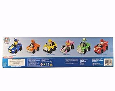 Pack de 6 Paw Patrol Racers, Set de coches Patrulla Canina que incluye Chase, Zuma, Rubble, Skye, Rocky y Marshall Racers NUEVA EDICIÓN 2017 de SCN