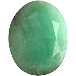 Gemorio Natural Emerald Panna 5.25 to 5.5 RATTI Certified Astrological Loose Gemstone As Shown in Image