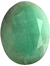 Gemorio Natural Emerald Panna 7.25 to 7.5 RATTI Certified Astrological Loose Gemstone As Shown in Image